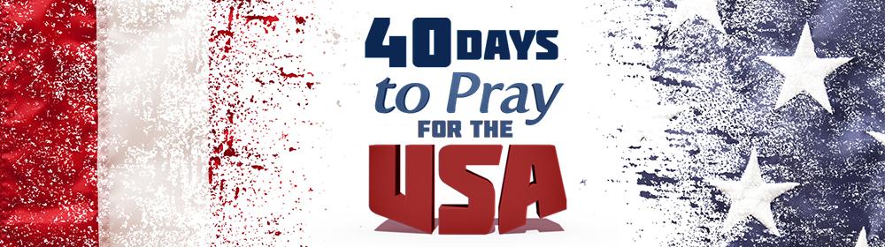 40 Days to pray for the USA
