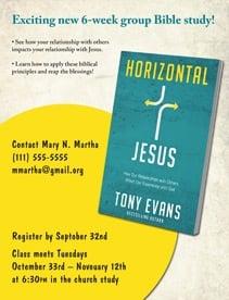 Horizontal Jesus Bible Study