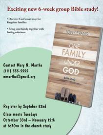 One Family Under God Bible Study