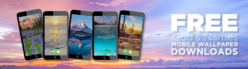 Free God's Names Mobile Wallpaper Downloads