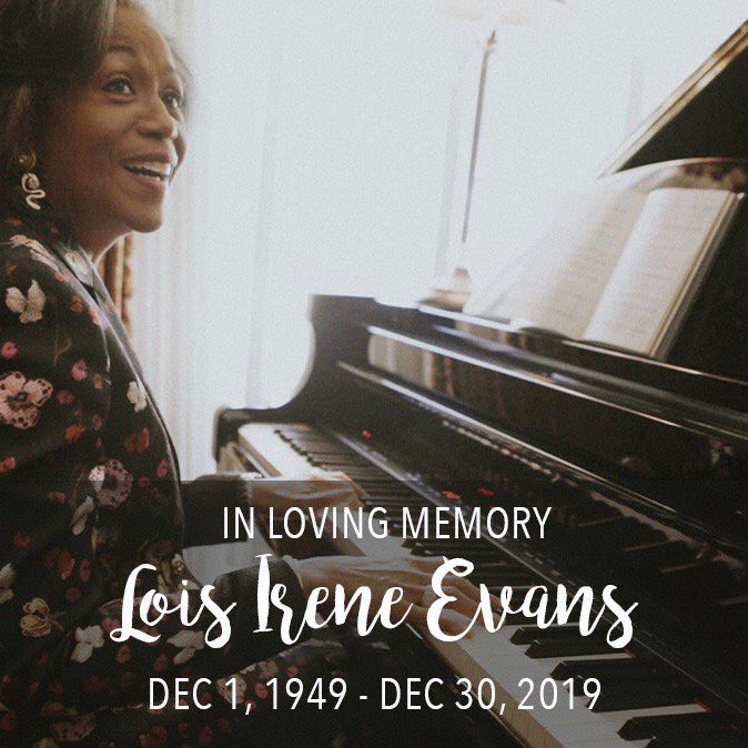 In loving memory of Lois Irene Evans